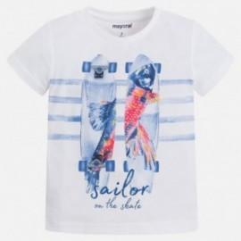Mayoral 3063-21 Koszulka chłopięca krótki rękaw skate kolor Biały