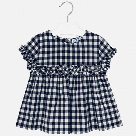 Mayoral 3108-10 Bluzka dziewczęca luźna popelina kolor Granatowy