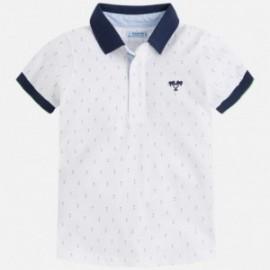 Mayoral 3126-44 Koszulka chłopięca polo krótki rękaw kolor Biały
