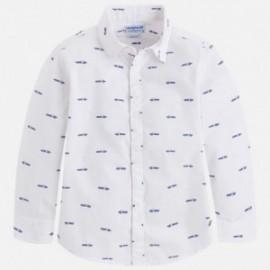 Mayoral 3162-56 Koszula chłopięca długi rękaw kolor Biały