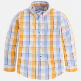 Mayoral 3166-10 Koszula chłopięca długi rękaw krata kolor Pszczoła