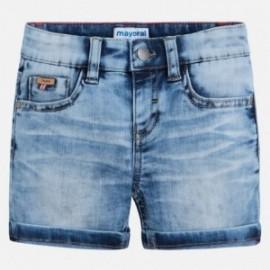 Mayoral 3260-80 Bermudy chłopięce jeans 5 kieszeni kolor niebieski