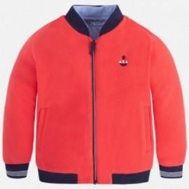 Mayoral 3468-90 Bluza chłopięca bez kaptura zapinana kolor czerwony