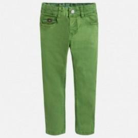Mayoral 3528-66 Spodnie chłopięce z serży kolor zielony