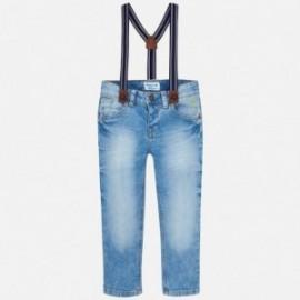Mayoral 3548-5 Spodnie chłopięce jeans z szelkami kolor niebieski