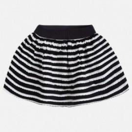 Mayoral 3910-82 Spódnica dla dziewczynki w paski kolor Czarny