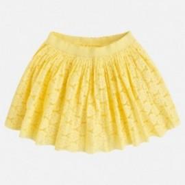 Mayoral 3914-89 Spódnica dziewczęca koronka kolor Cytryna