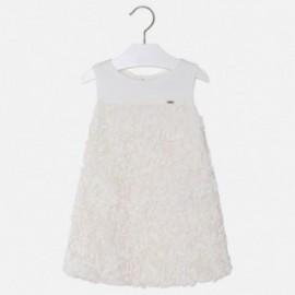 Mayoral 3924-26 Sukienka dziewczęca tiul kolor Kremowy
