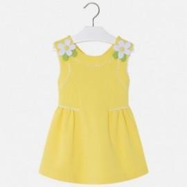 Mayoral 3932-64 Sukienka dziewczęca z lamówką kolor Żółty