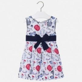 Mayoral 3950-45 Sukienka dziewczęca kokardka kolor Granatowy