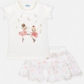 Mayoral 3991-31 Komplet dla dziewczynki 2 części kolor Kremowy
