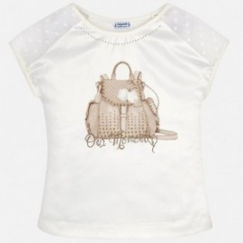 Mayoral 6002-22 Koszulka dziewczęca kolor Kremowy