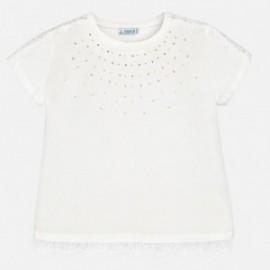 Mayoral 6008-76 Koszulka dziewczęca kolor Kremowy