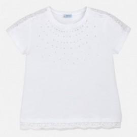 Mayoral 6008-79 Koszulka dziewczęca kolor Biały