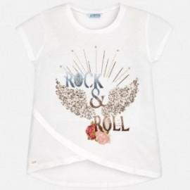 Mayoral 6022-65 Koszulka dziewczęca kolor Kremowy
