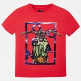 Mayoral 6065-58 Koszulka chłopięca kolor czerwony