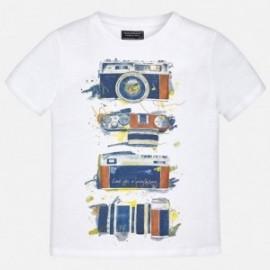 Mayoral 6075-68 Koszulka chłopięca kolor Biały