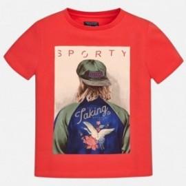 Mayoral 6098-21 Koszulka chłopięca kolor czerwony