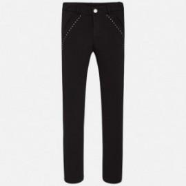 Spodnie dziewczęce kolor Czarny