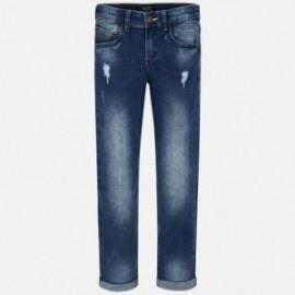 Mayoral 6530-82 Spodnie chłopięce jeans slim fit z przetarciami kolor Basic