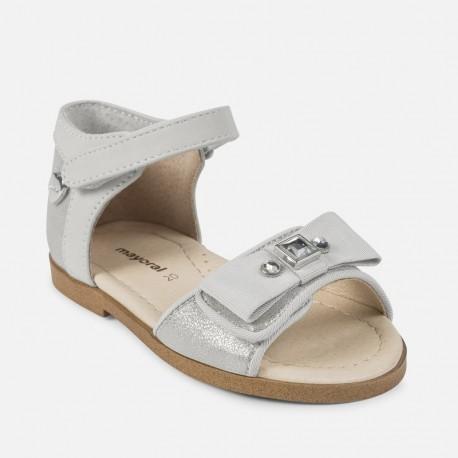 Mayoral 41864-75 Sandały dziewczęce ozdobne kolor Srebrny