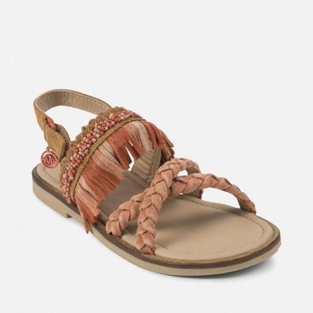 Mayoral 43891-43 Sandały dla dziewczynki kolor Koralowy