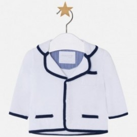 Marynarka chłopięca trykot kolor Biały