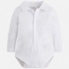 Mayoral 1712-60 Body chłopięce koszulowe kolor Biały