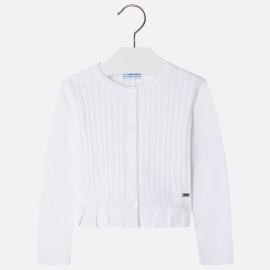 Mayoral 3302-74 Sweter dziewczęcy kolor Biały