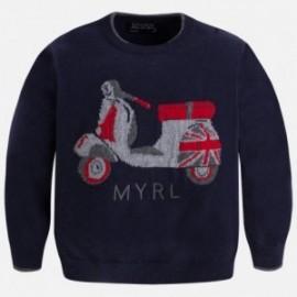 Mayoral 4305-35 Sweter intarsjia skuter kolor Granatowy