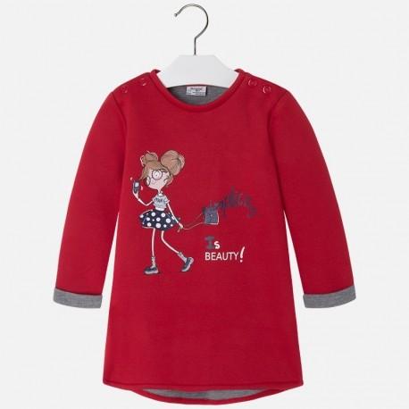 Mayoral 4965-65 Sukienka dzianina kolor Czerwony