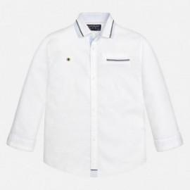 Mayoral 7139-17 Koszula d/r gładka detale kolor Biały