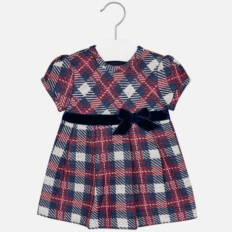 Mayoral 2943-15 Sukienka dziewczęca kratka kolor Granat