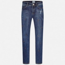 Mayoral 7535-31 Spodnie długie jeans strass kolor Ciemny