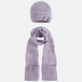 Mayoral 10294-79 Komplet czapka szalik kolor Srebrny