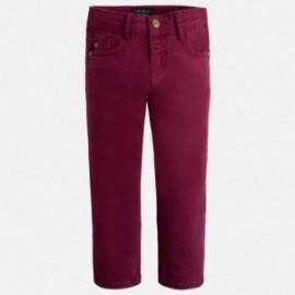 Mayoral 41-60 Spodnie serża z kieszeniami kolor Burak