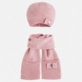 Mayoral 10294-77 Komplet czapka szalik kolor różowy
