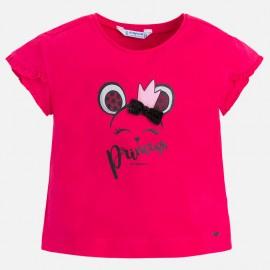 Mayoral 3036-50 Koszulka dziewczęca krótki rękaw kolor fuksja
