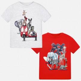 Mayoral 1060-44 Komplet 2 koszulki chłopięce kolor Wiśniowy