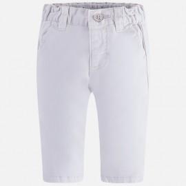Mayoral 595-60 Spodnie dla chłopca serża kolor Biały