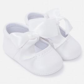 Mayoral 9810-91 Buciki dziewczęce ze skóry ekologicznej kolor biały