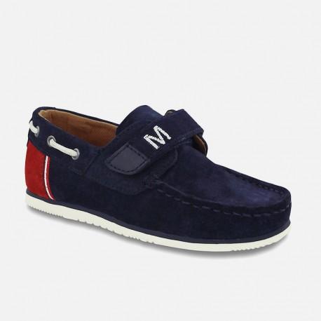 Mayoral 43905-39 Buty chłopięce mokasyny na rzep żeglarskie kolor Granat