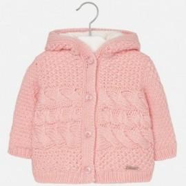 Mayoral 2339-85 Sweter dziewczęcy ocieplony bawełną kolor róż