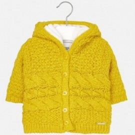 Mayoral 2339-82 Sweter dziewczęcy ocieplony bawełną kolor Bursztyn