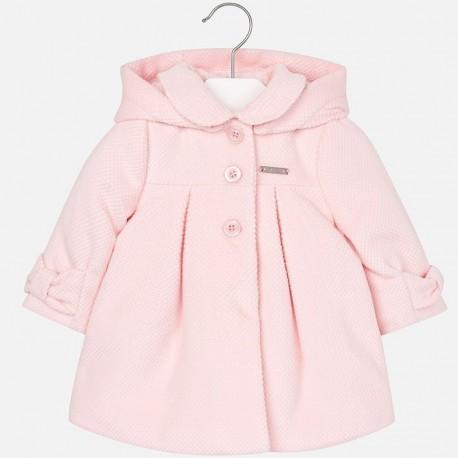 1d5bab17a9 Mayoral 2475-32 Płaszcz dla dziewczynki sztruks kolor Różowy