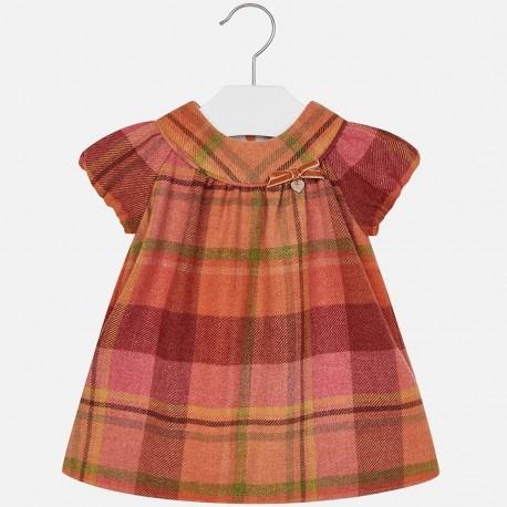 Mayoral 2949-69 Sukienka dziewczęca krata flanelowa kolor Dynia