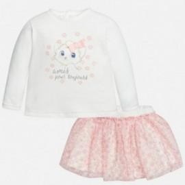 Mayoral 2959-93 Zestaw dla dziewcznynki bluzka i spódnica kolor Pastel