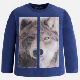 Mayoral 4029-50 Koszulka chłopięca wilk/miś kolor Winogrono