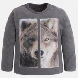 Mayoral 4029-51 Koszulka chłopięca wilk/miś kolor Lodowiec