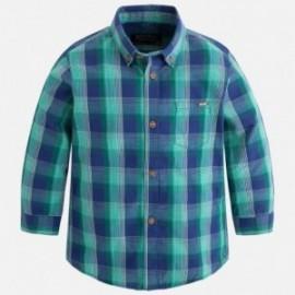 Mayoral 4149-87 Koszula chłopięca w kratę z długim rękawem kolor niebieski